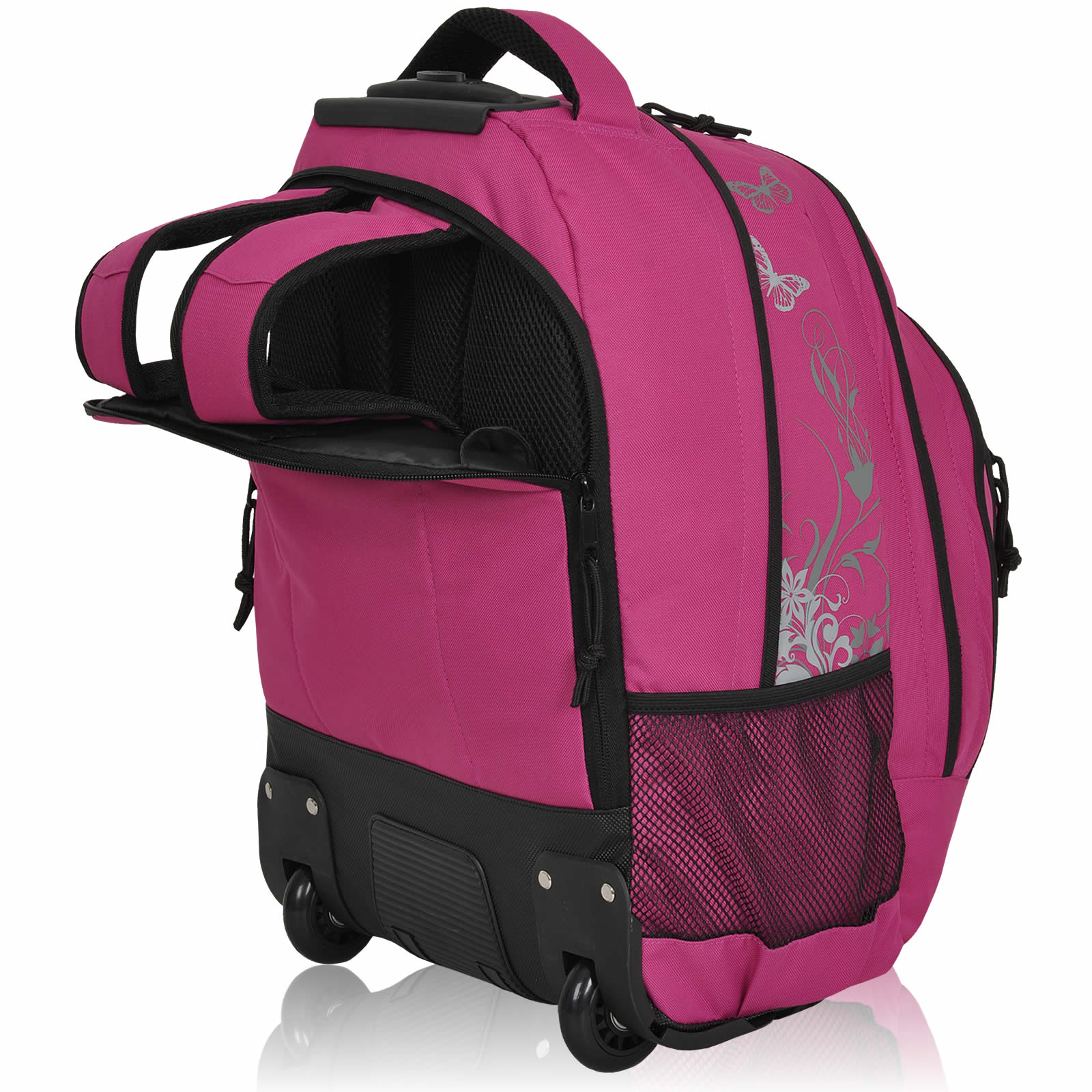 schulranzen trolley 3t set butterfly ranzen keanu schulrucksack trolley pink ebay. Black Bedroom Furniture Sets. Home Design Ideas